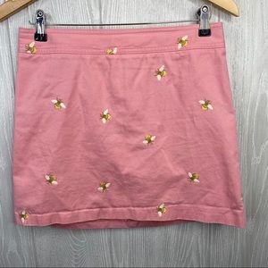 J crew mini skirt Bumble Bee